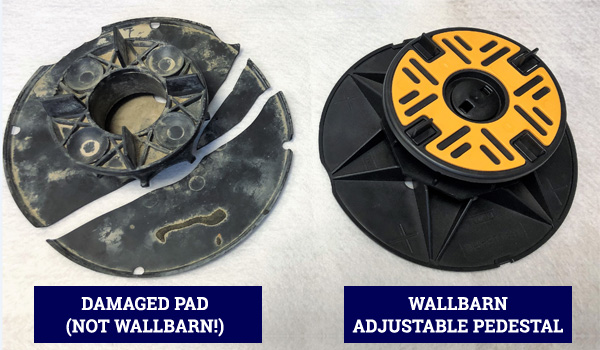 Damaged Pad vs Wallbarn